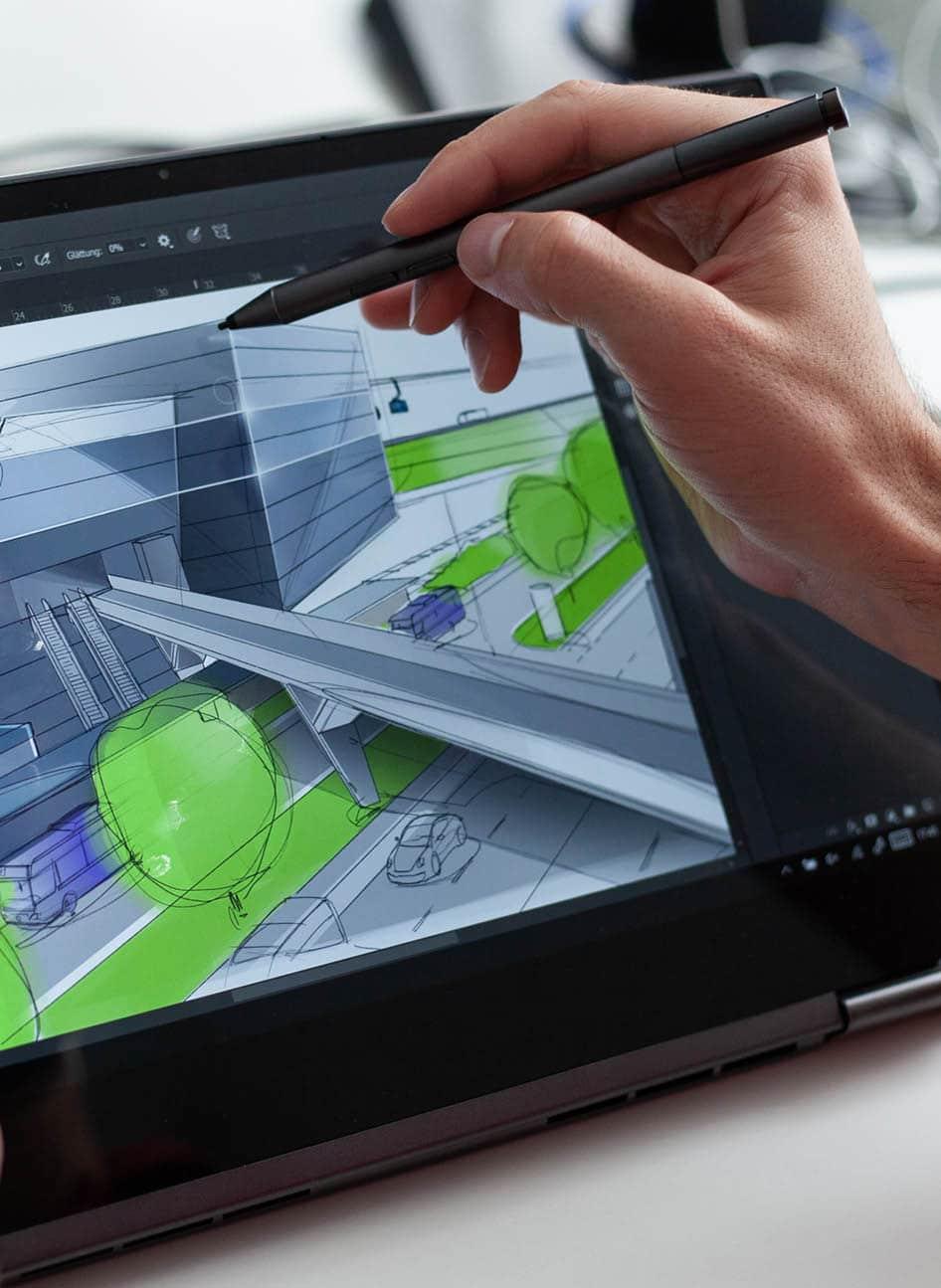 Architektur Zeichnung auf Grafiktablett