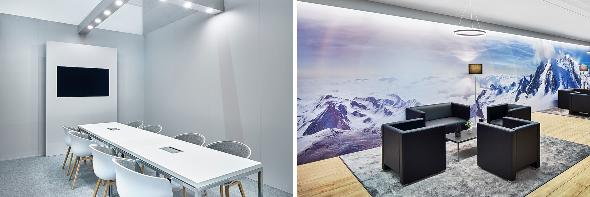 Innenarchitektur für Besprechungsraum und Lounge