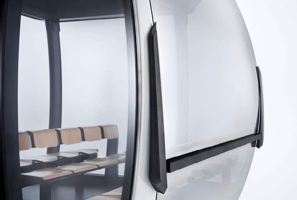 Panorama-Fenster der Seilbahn Kabine Atria von Doppelmayr