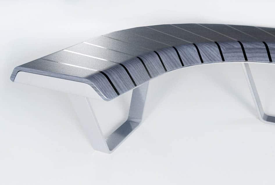 Detail im Produktdesign einer Sitzbank