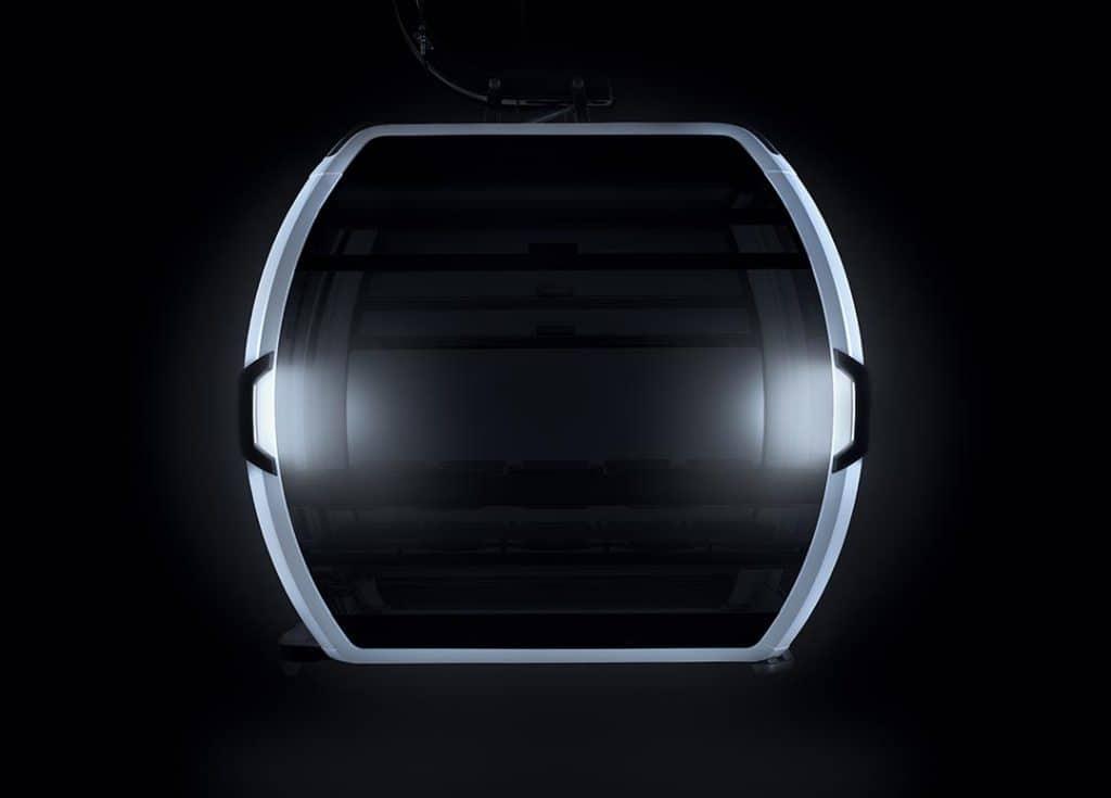 Beleuchtung einer Seilbahn-Kabine