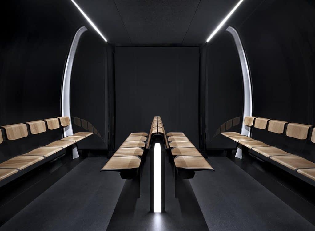 Innenraum Beleuchtung einer Seilbahn Kabine Doppelmayr