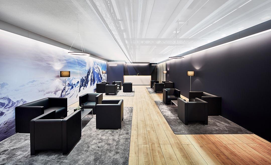 Innenarchitektur einer VIP-Lounge