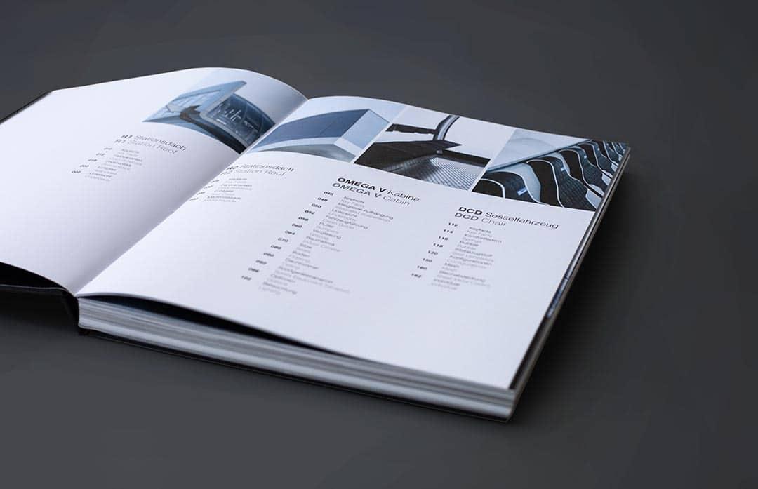 Layout von Inhaltsverzeichnis in Design Buch