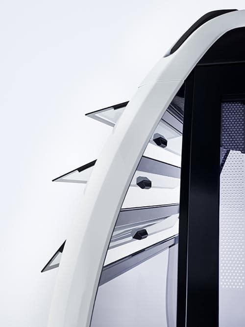 Kippfenster zur Belüftung einer Seilbahnkabine