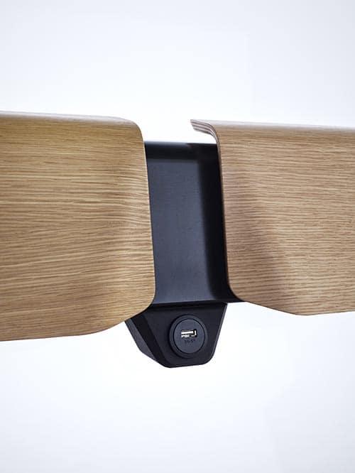 USB Ladestelle an Sitzbank