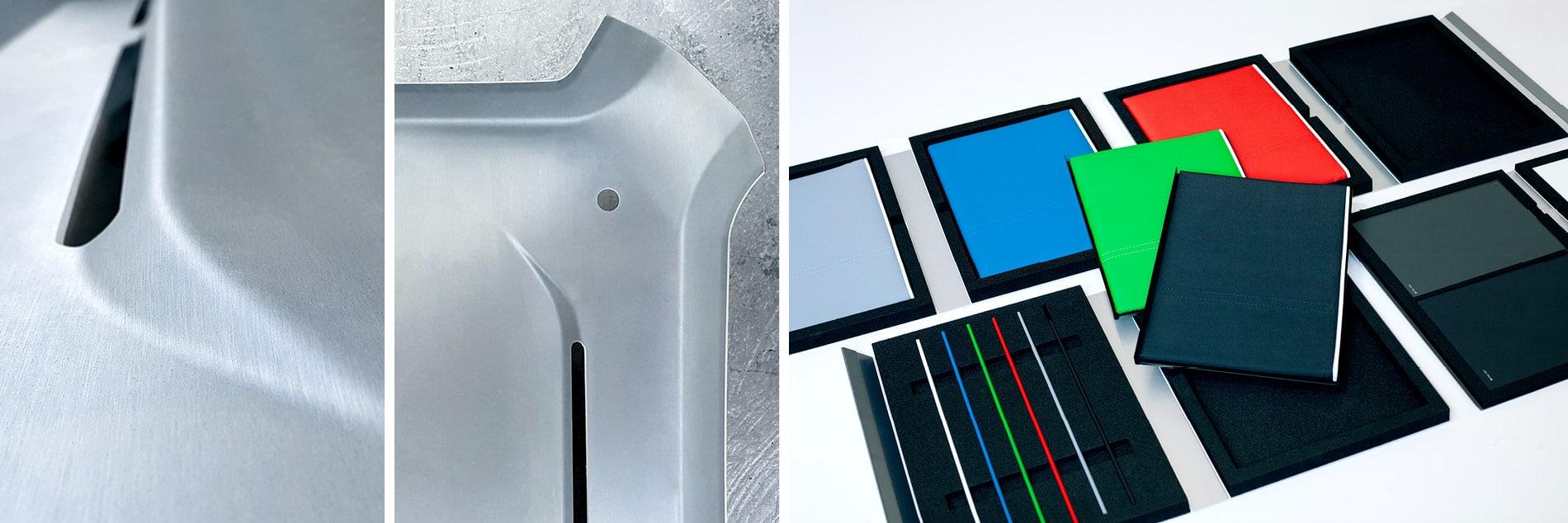 Muster für Materialien und Farben
