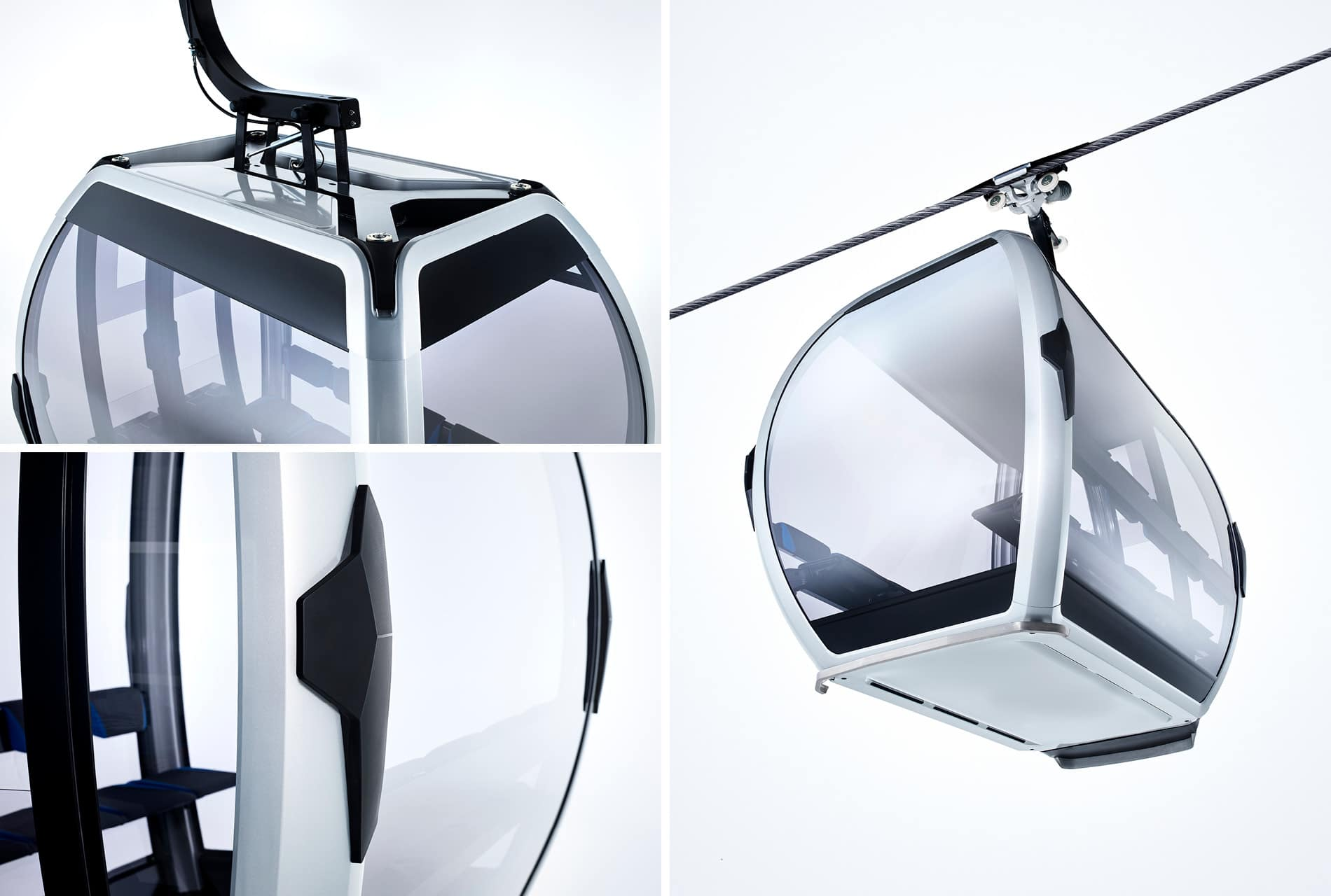 Industriedesign der Seilbahn-Kabine OMEGA V von Doppelmayr