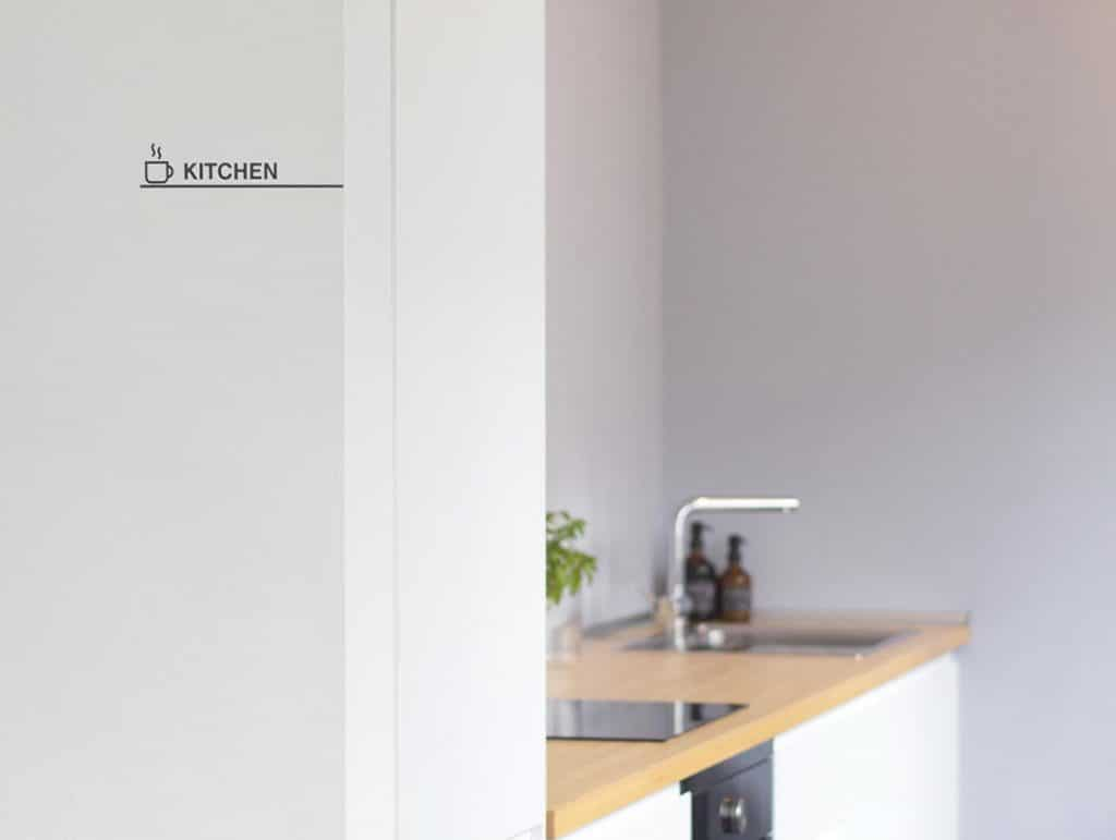 Raum-Beschriftung Küche