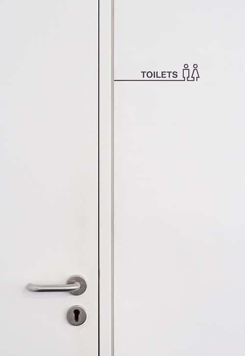 Leitsystem Beschriftung Toiletten